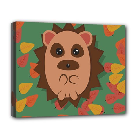 Hedgehog Animal Cute Cartoon Deluxe Canvas 20  X 16  (stretched)