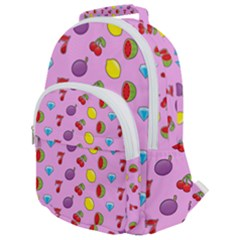 Slot Machine Wallpaper Rounded Multi Pocket Backpack