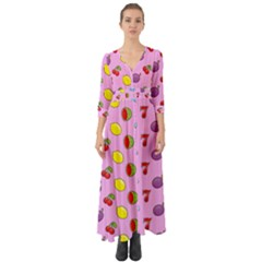 Slot Machine Wallpaper Button Up Boho Maxi Dress