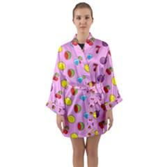 Slot Machine Wallpaper Long Sleeve Kimono Robe by HermanTelo