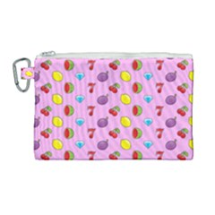 Slot Machine Wallpaper Canvas Cosmetic Bag (large)