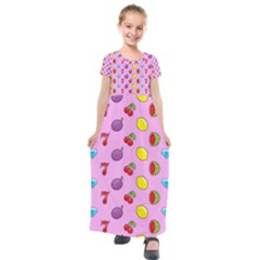 Slot Machine Wallpaper Kids  Short Sleeve Maxi Dress