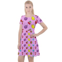 Slot Machine Wallpaper Cap Sleeve Velour Dress