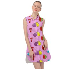 Slot Machine Wallpaper Sleeveless Shirt Dress