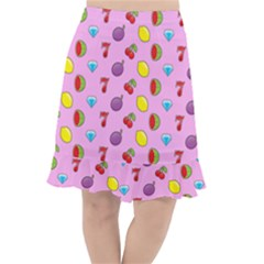Slot Machine Wallpaper Fishtail Chiffon Skirt
