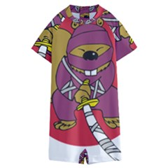 Ninja Beaver Animal Humor Joke Kids  Boyleg Half Suit Swimwear