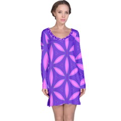 Purple Long Sleeve Nightdress