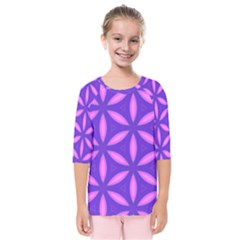 Purple Kids  Quarter Sleeve Raglan Tee