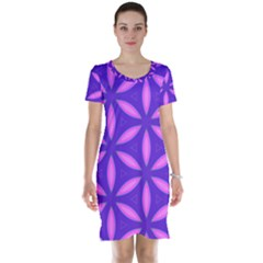 Purple Short Sleeve Nightdress