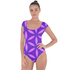 Purple Short Sleeve Leotard