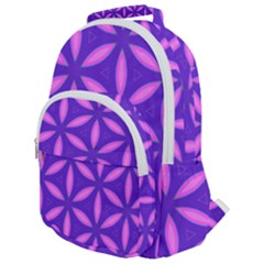 Purple Rounded Multi Pocket Backpack