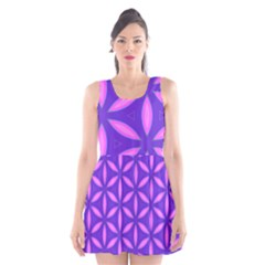 Purple Scoop Neck Skater Dress