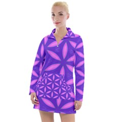 Purple Women s Long Sleeve Casual Dress