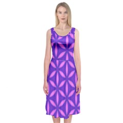 Purple Midi Sleeveless Dress