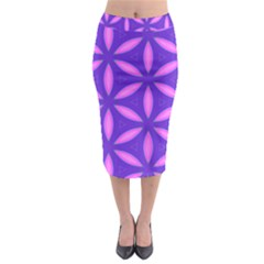 Purple Midi Pencil Skirt