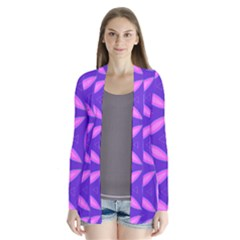 Purple Drape Collar Cardigan