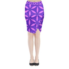 Purple Midi Wrap Pencil Skirt