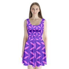 Purple Split Back Mini Dress