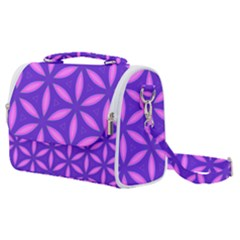 Purple Satchel Shoulder Bag