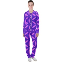 Purple Casual Jacket And Pants Set