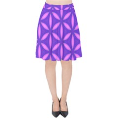 Purple Velvet High Waist Skirt