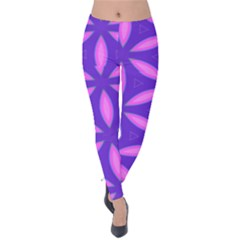 Purple Velvet Leggings
