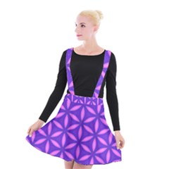 Purple Suspender Skater Skirt