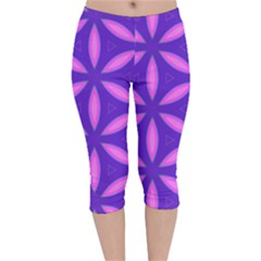 Purple Velvet Capri Leggings