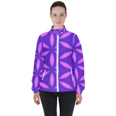 Purple Women s High Neck Windbreaker