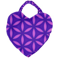Purple Giant Heart Shaped Tote