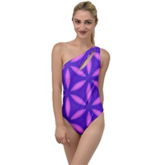 Purple To One Side Swimsuit