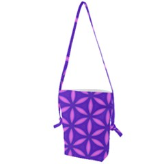 Purple Folding Shoulder Bag