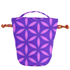 Purple Drawstring Bucket Bag