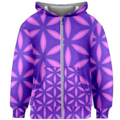 Purple Kids  Zipper Hoodie Without Drawstring