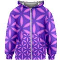Purple Kids  Zipper Hoodie Without Drawstring View1