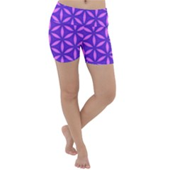 Purple Lightweight Velour Yoga Shorts