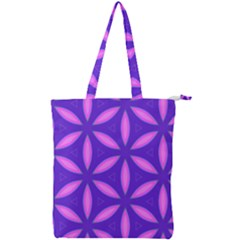 Purple Double Zip Up Tote Bag
