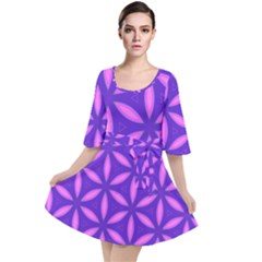 Purple Velour Kimono Dress