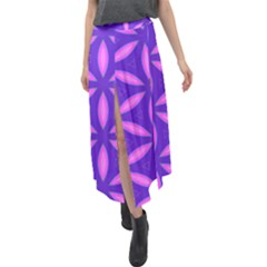 Purple Velour Split Maxi Skirt
