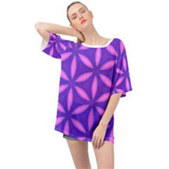 Purple Oversized Chiffon Top