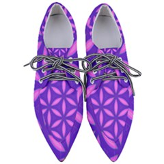 Purple Pointed Oxford Shoes