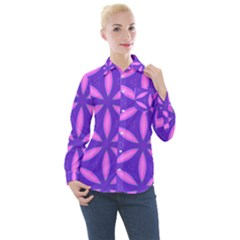 Purple Women s Long Sleeve Pocket Shirt