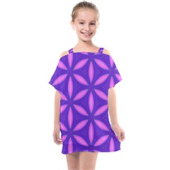 Purple Kids  One Piece Chiffon Dress