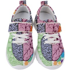 Brain Heart Balance Emotion Kids  Velcro Strap Shoes