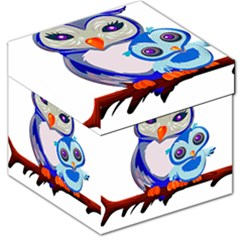 Owl Mother Owl Baby Owl Nature Storage Stool 12