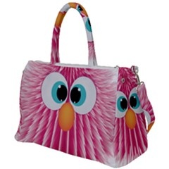 Bird Fluffy Animal Cute Feather Pink Duffel Travel Bag by Sudhe