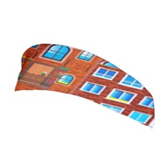 Town Buildings Old Brick Building Stretchable Headband