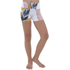 Feather Feathers Kids  Lightweight Velour Yoga Shorts