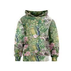 Peafowl Peacock Feather Beautiful Kids  Pullover Hoodie by Sudhe