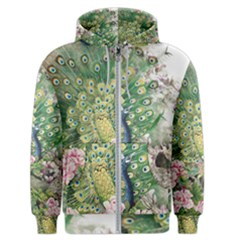 Peafowl Peacock Feather Beautiful Men s Zipper Hoodie by Sudhe
